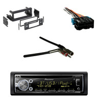 DEH-X6900BT Bluetooth CD AUX Radio, Wire Harness, GM Antenna Adapter, GM DIN Kit