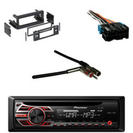 DEH150MP CD Mp3 Car Radio, Metra Antenna Adapter, GM Dash Kit,  GM Wire Harness