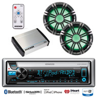 "400W Amplifier, 10""LED Marine Subwoofers/Remote, Bluetooth USB CD iPod Receiver"