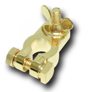 Battery Terminal Audiopipe Negative; Gold Plated
