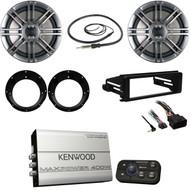Kenwood 4 Channel Marine Amp, Harley FLHX Dash Kit, Speakers/Adapters, Antenna