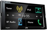 """JVC KW-V430BT 6.8"""" Double DIN Bluetooth In-Dash DVD/CD/AM/FM In-Dash Car Stereo SiriusXM Radio Ready"""