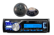 2014 JVC Marine Boat Bluetooth AUX USB iPhone Input Receiver, 5.25'' Speakers