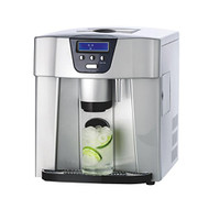 NutriChef PICEM75 Ice Maker & Dispenser, Countertop Ice Cube Making Machine, Silver