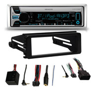 KMRD765BT Marine Bluetooth CD Receiver,99-9600 Harley FLHT FLHX Adapter Dash Kit
