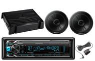 "2 Black 6.5""Pioneer Speakers,400W Amplifier,Kenwood Bluetooth iPod USB AUX Radio"