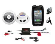 "Pyle Bike Bicycle ATV Marine Amplifier 400W iPod Input, 6.5"" Speakers,Phone Case"