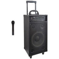 Pyle PWMA1050BT Wireless Portable Bluetooth PA Speaker System, Built-in Rechargeable Battery, Wireless Microphone, 800 Watt