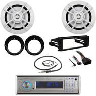 """98-2013 Harley FLHX Kit, Bluetooth USB Radio, Antenna, 6.5"""" Speakers & Adapters"""