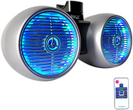 Pyle PLMRWB652LES Marine Tower Wakeboard 6.5'' Speakers, LED Light, Water Resistant