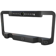 Power Acoustik Black License Plate Frame With Color Camera Object Sensor Ir Leds