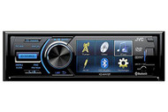 "JVC KD-AV41BT 3"" Single-Din Car Receiver with Bluetooth, DVD, USB, Remote and IPhone Control"