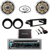 Harley Install FLHT Dash Kit, Bluetooth CD Radio,Speakers, Adapters,Amp,Antenna