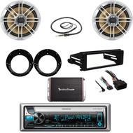 CD Bluetooth Stereo, Polk Speakers, Adapters, Amp,Harley Dash FLHT Kit, Antenna