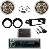 Kenwood Bluetooth, Harley FLHT Install Dash Kit, Speakers/Adapters, Antenna, Amp