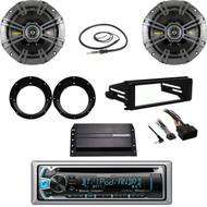2016 CD Stereo, Harley FLHX FLHT Install Dash Kit, Amp, Kicker Speakers/Adapters
