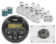 "Marine 6x9"" Speakers & Wires, Milennia Bluetooth USB AUX Radio,4- 6x9 Speakers"