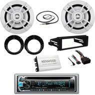 Bluetooth CD Kenwood Radio, FLHX Harley Install Kit, Antenna, Amp, Speakers/Set