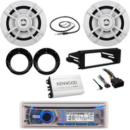"Bluetooth USB CD Radio, FLHX DIN Kit, 6.5"" Speakers/Adapters, Antenna, 400W Amp"