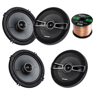 This Bundle Combo Kit Includes 2 Pair Of Kicker 41KSC654 6.5 Inch Car Stereo Speakers + 2x 25ft (total of 50 Feet) 16 Gauge Speaker Wire