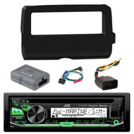 JVC KD-R97MBS CD MP3 Bluetooth Marine Boat Yacht Outdoor Car USB AUX AM/FM Radio Receiver,  Scosche 2014-Up Harley Davidson Handlebar Controls, Scosche HD7001B 2014-Up Harley Davidson Stereo Install Dash Kit