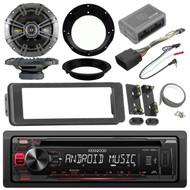98-2013 Install Adapter DIN Kit, Kicker Speaker Set, Kenwood CD USB AM FM Radio