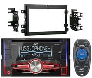 JVC Double Din Car USB CD InDash Radio, Metra 04-UP 2Din Ford Installation Kit