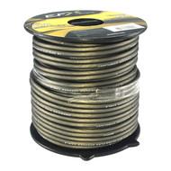 New Scosche 16AWG OFC Ultra-Flex Speaker Wire; flux tinned fine strand, frosted black, 25' retail mini-spool w/tab