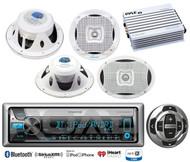 """Kenwood Marine CD Bluetooth USB Radio/Remote,6.5""""&6x9"""" Marine Speakers,Amplifier"""