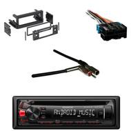 KDC122U USB CD Receiver, GM Dash Kit, Metra Antenna Adapter, Metra Wire Harness