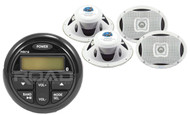 "Marine 6x9"" 500W Speaker Set, Milennia USB AM FM Bluetooth AUX Marine Receiver"