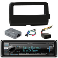 Kenwood KDC-BT858U Cd Player Bluetooth Usb Siriusxm Ready Stereo Receiver,  Scosche 2014-Up Harley Davidson Handlebar Controls, Scosche HD7001B 2014-Up Harley Davidson Stereo Install Dash Kit