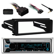Harley 98-2013 FLHT FLHX Install Kit, Kenwood Bluetooth USB CD AUX AM FM Radio