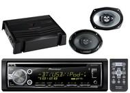 "Kenwood 6x9"" Car Speakers,400W Amplifier,Pioneer Bluetooth CD USB AUX iPod Radio"