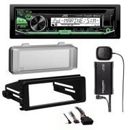 KDR97MBS Bluetooth Radio, Harley 98-2013 FLHT Install Kit, Radio Cover, XM Tuner