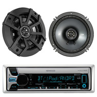 "2 Kicker 300W 6.5"" Speaker Set,Kenwood Bluetooth USB For iPod/iPhone CD Receiver"