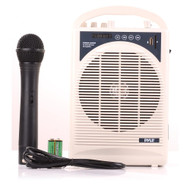 New Pyle PWMA120BM Portable Karaoke PA Speaker Amplifier & Microphone System, Bluetooth Wireless Streaming, Handheld Mic, Built-in Rechargeable Battery
