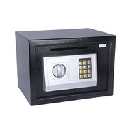 SereneLife Drop Box Safe Front Load Cash Vault Drop lock and Safe For Jewlery Cash documents with Mechanical Override, Includes Keys 13.8 x 9.8 x 9.8 inches (SLSFE342)