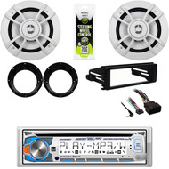 "Harley FLHX FLHT Installation DIN Kit,Bluetooth CD Radio,6.5"" Speakers& Adapters"