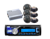 New JVC Boat Yacht KDX31MBS USB Bluetooth AM/FM Radio.400W Amplifier+ 6 Speakers