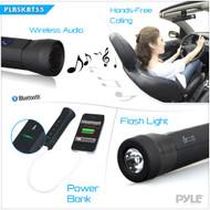 Pyle PLBSKBT55BK Pedal Sound 3-in-1 Waterproof Bluetooth Speaker, Call Answer...