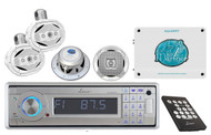 AQCD60BTS In-Dash Yacht W/Bluetooth+Wake Board Speakers+7.7'' Speakers+Amplifier