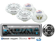 "Marine Kenwood USB CD Bluetooth Radio/Wired Remote,4 Marine 7.7""2Way Speaker Set"