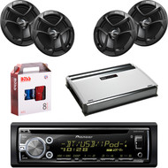 "1 X In Dash Pionner DEHX6900BT In Dash Receiver, 2 X Pair JVC CSJ620 6x5"" Speakers, 1 X MB Quart NA3604 4 Ch Amp, 1 X 8g Install Kit"
