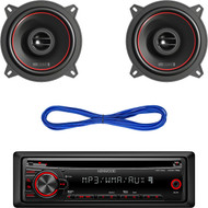 """Kenwood KDC-152 In-Dash MP3/WMA CD Receiver [Electronics], Pair RKM113 MB Quart 5.25"""" Inch Reference Series Car Audio Speakers"""