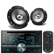 "Kenwood Car DoubleDin CD iPod USB Bluetooth Radio,2 Kenwood 6.5""Coaxial Speakers"