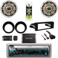 Bluetooth Stereo, Harley Install 98-2013 Adapter Kitm, XM Tuner, Amp,Speaker Set