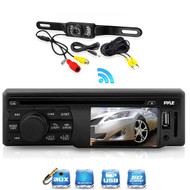 """In Dash 3"""" LCD Screen CD AUX Bluetooth USB Receiver, 1 Pyle Rear Back Up Camera"""