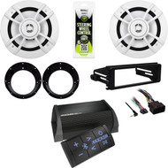 Kenwood Speakers/Adapters, Harley FLHX Install Kit, Bluetooth Amp,