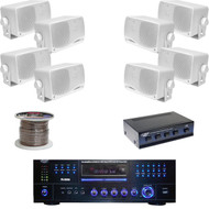 "PD3000W DVD USB Receiver, 3.5"" Box Speakers, Speaker Selector, Speaker Wiring"